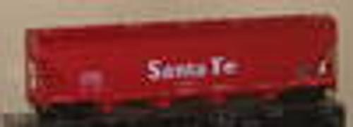 Weaver Santa Fe  (red)  50' centerflow covered hopper, 2 or 3 rail