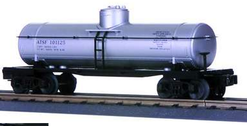 MTH Railking  Santa Fe (silver ) 8000 gal Tank Car, 3 rail