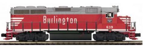 MTH Premier Burlington (CB&Q) GP-40  diesel, 3 rail, P3.0
