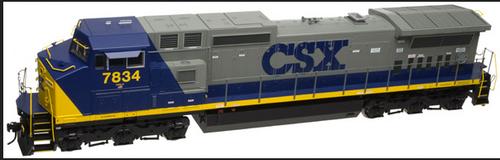 Atlas O CSX Dash 8-40CW, 3r, tmcc, smoke, cruise,