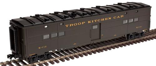 Atlas O (weaver)  6 car troop train, 2 rail