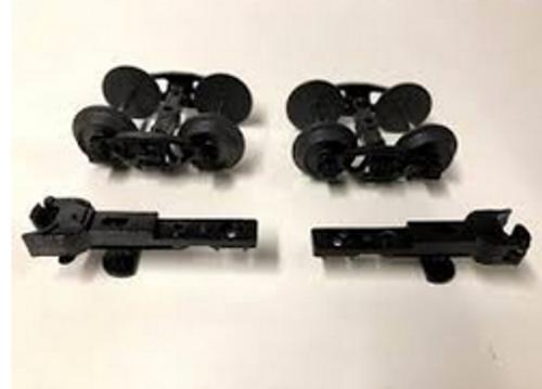 Weaver 3 rail roller bearing diecast/sprung trucks/couplers (Pair)