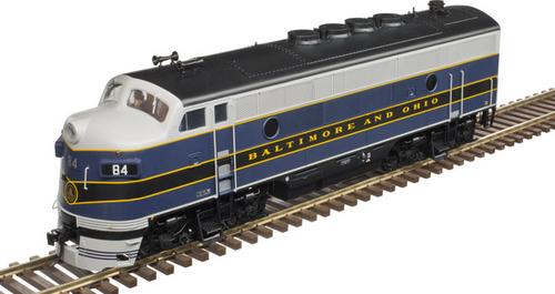 Atlas O B&O  F-3 A-B diesels, both Powered, 2 rail