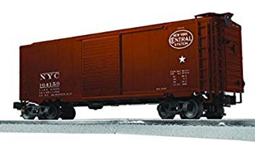 Lionel/Weaver NYC (tuscan) 40' PS-1 box car, diecast tks/couplers, 3 rail or 2 rail