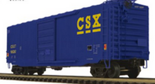 Pre-order for MTH Premier CSX  (Blue) PS-1  50' box car, 3 rail