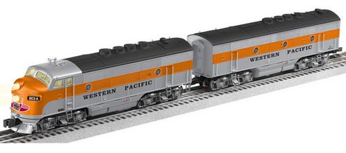 Lionel Legacy WP F-3A-B diesels. 3 rail