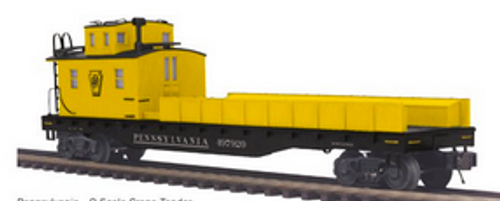 Pre-order for MTH Premier PRR wreck crane and boom tender/tool car,  3 rail