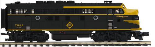 MTH Premier  Erie  F-3A-B  diesel, pwd A, non-pwd B, 2 rail