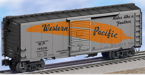 Lionel WP  (large orange feather) 40' PS-1 box car , 3 rail