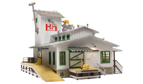 Woodland Scenics O gauge H&H Feed Mill ...super detailed building