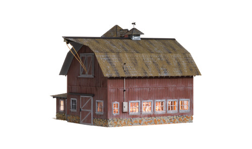 Woodland Scenics O gauge Old Weathered Barn...super detailed building