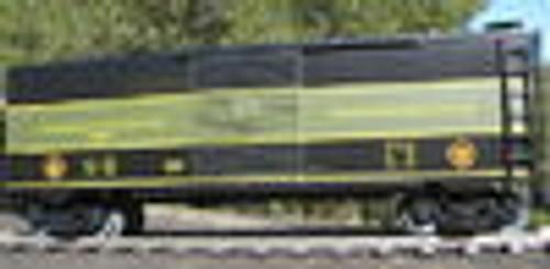 Weaver GTW Through Baggage (black/green) 40' PS-1 box car, 3 rail or 2 rail