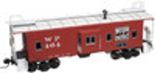 Atlas O WP (red)  Bay window caboose,  3 rail