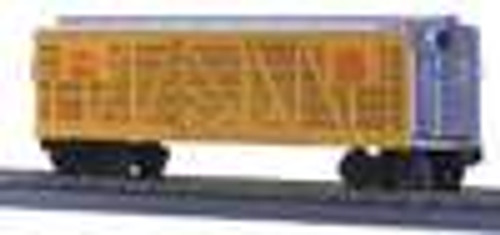 MTH Rail King UP stock car (silver/yellow), 3 rail