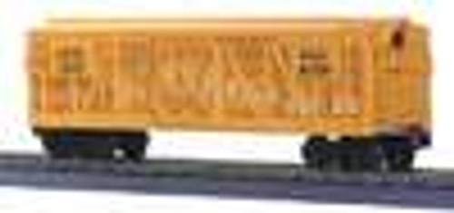 MTH Rail King UP stock car (yellow), 3 rail