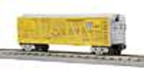 MTH Rail King UP stock car (grey/yellow), 3 rail