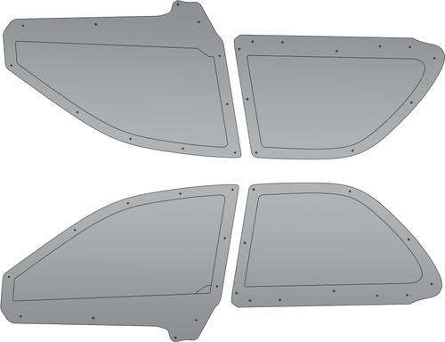 6OVRCRST Polycarbonate / Carbon Fiber Rear Windows  - Subaru Impreza 93-01 Sedan