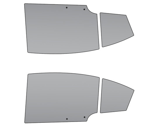 Hardware and mounting tabs included with 6OVRCRST WRX STI Polycarbonate Rear Windows