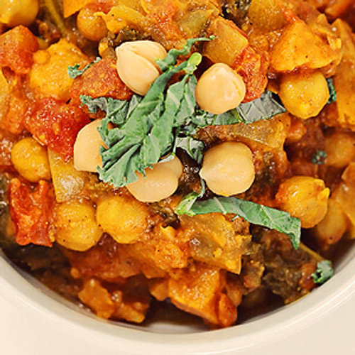 Vegan Eats Chickpea Curry with Kale & Sweet Potatoes - 6 pack -Fresh, healthy, delicious, ready-made vegan meals shipped to you