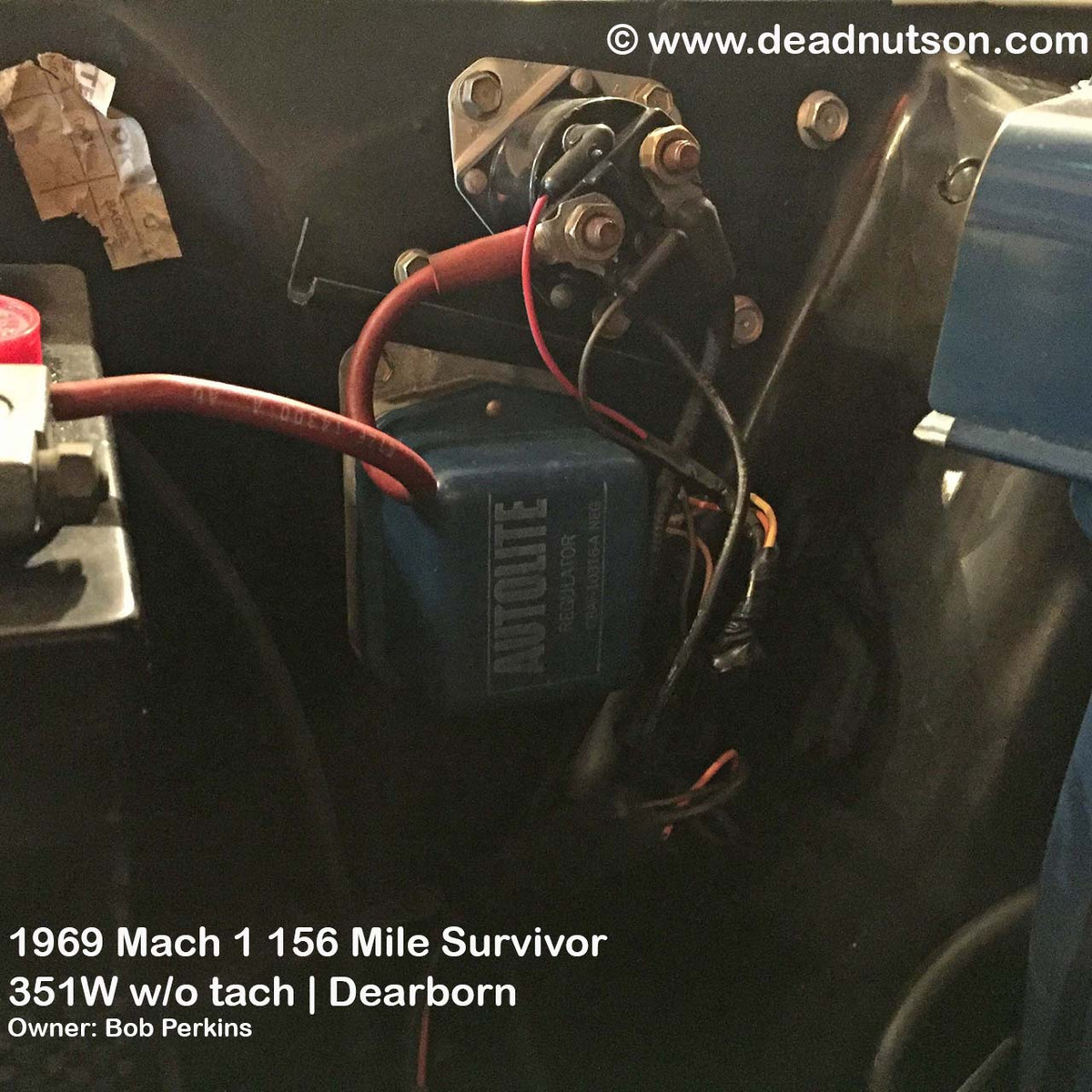 1969 Alternator Wire Harness (without tach) on