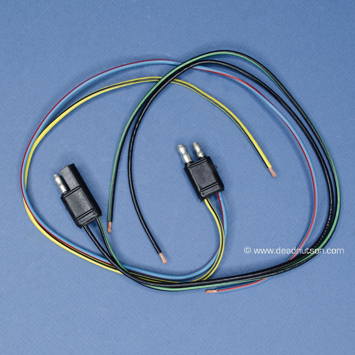 1967 70 mustang am radio wiring repair harness set 2004 ford f150 radio wiring diagram mustang radio amp bypass wire (93 00