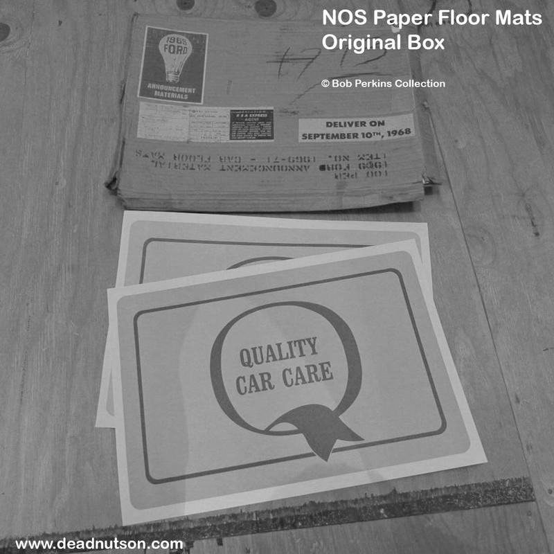 1964-69 Ford Dealer Paper Floor Mats