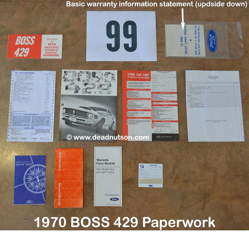 1970 Model Basic Warranty Information (1970 FORD CARS)