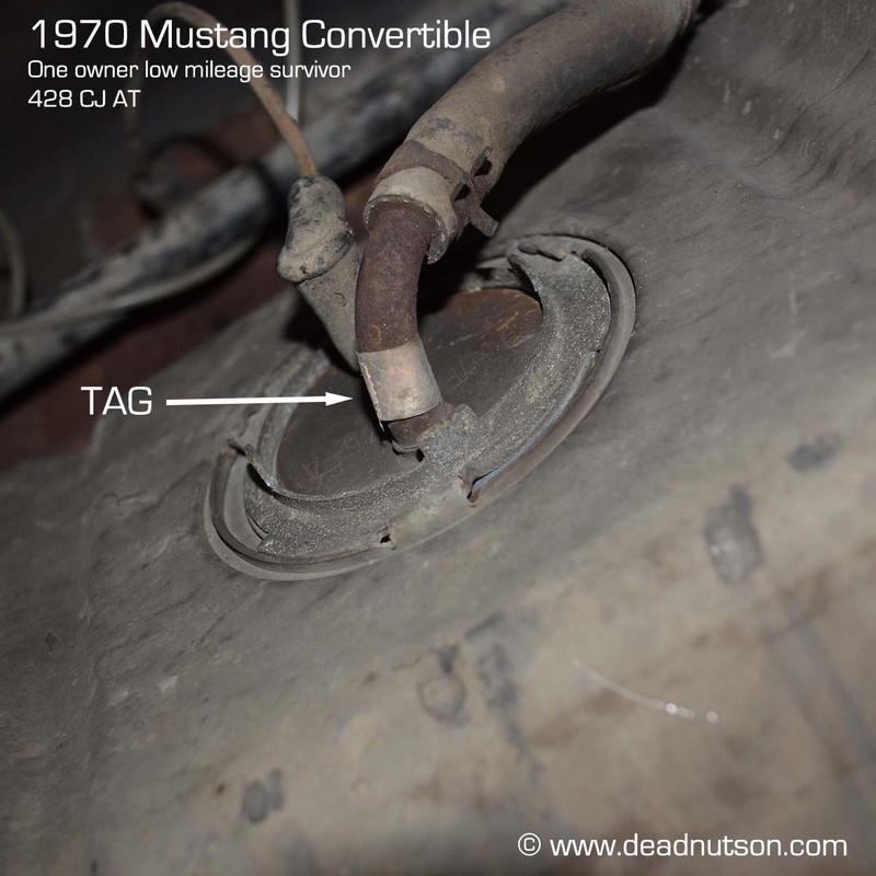 Fuel Tank Sending Unit Outlet Tube Tag