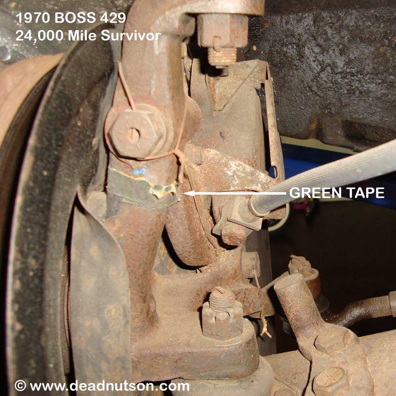 1970 Disc Brake Spindle Green Tape
