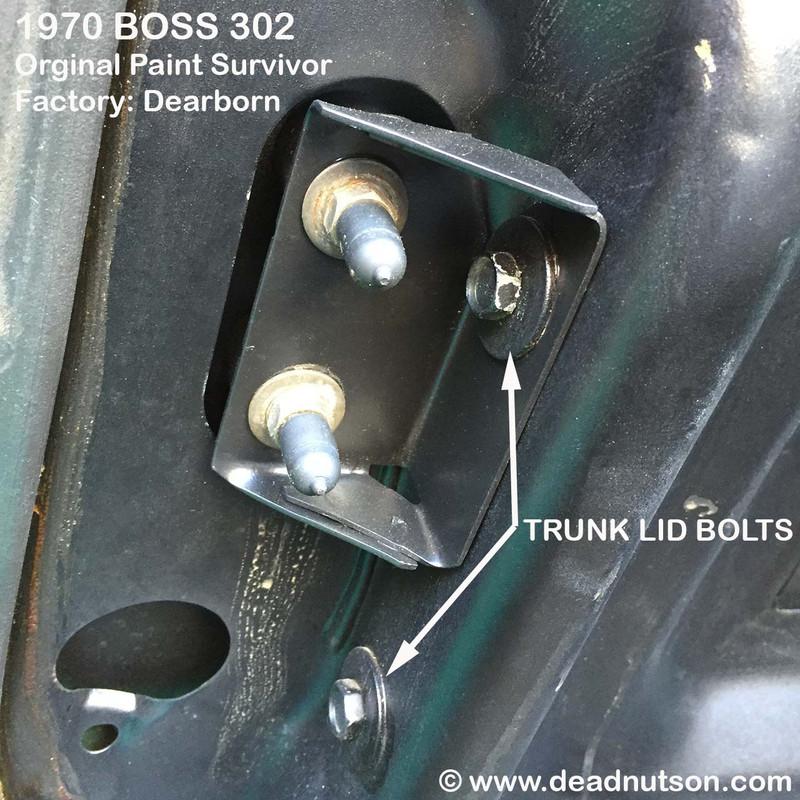 1969-70 Trunk Lid & Hinges Hardware