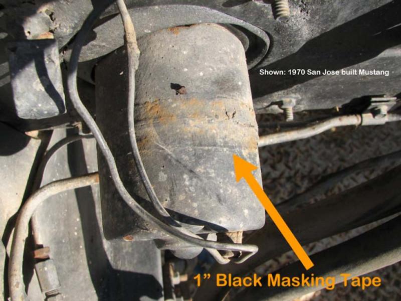 Heater Motor Black Masking Tape