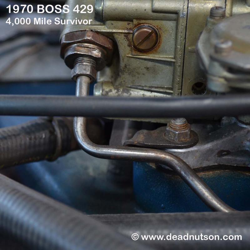 BOSS 429 Carburetor Mounting Studs & Nuts