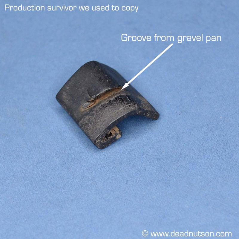 1969-70 Front Bumper Support Gravel Pan Anti-Rattle Rubber Insulators
