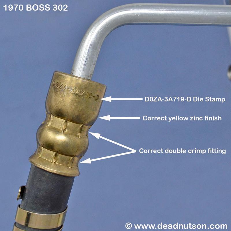 1970 BOSS 302 Power Steering Hose Pump > Insulator   DOZA-3A719-D