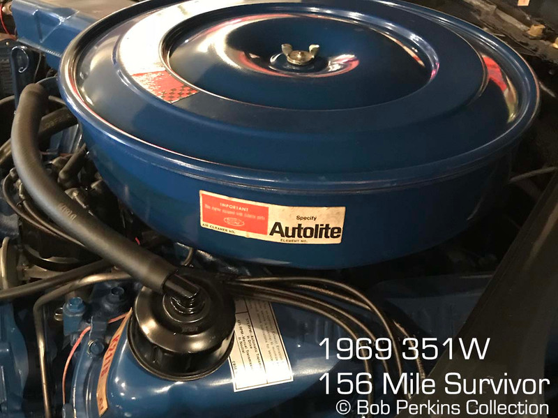 1969 351W Air cleaner service decal