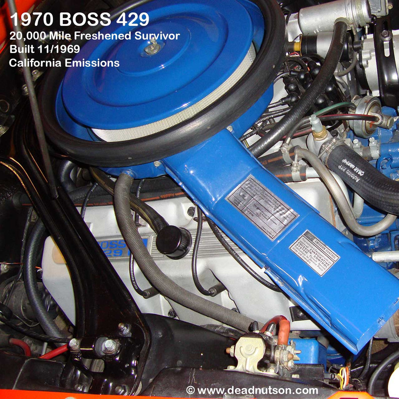 1969-1970 BOSS 429 Engine Emission Decal 700 RPM