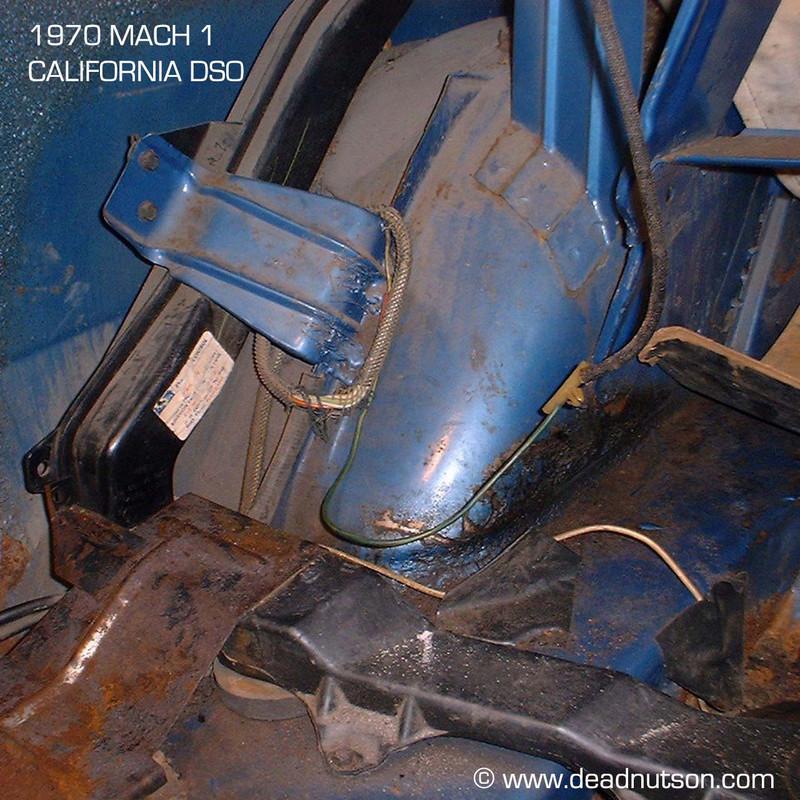 1970 California V8 Trunk Evap Decal