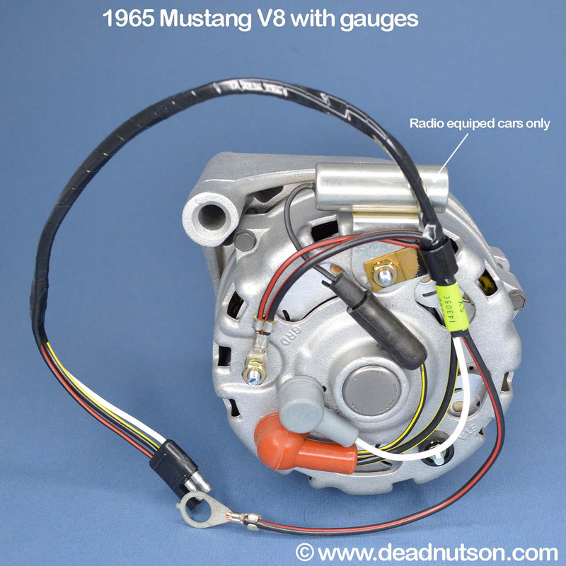 1965 Mustang alternator wire harness installed