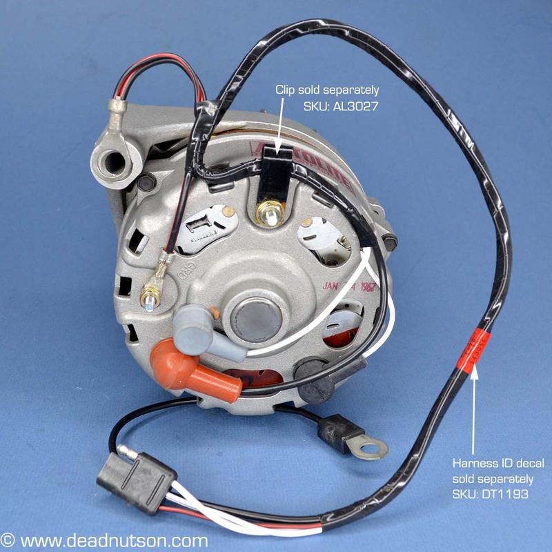1967-68 Alternator Wire Harness 390  427  428  With Tach