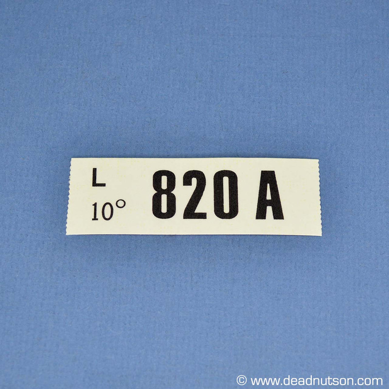 1970 BOSS 429  Engine ID Decal 820A