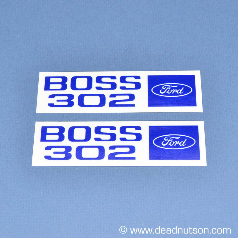 1969 - Early 1970 BOSS 302 Valve Cover Engine Size Decal (Set)