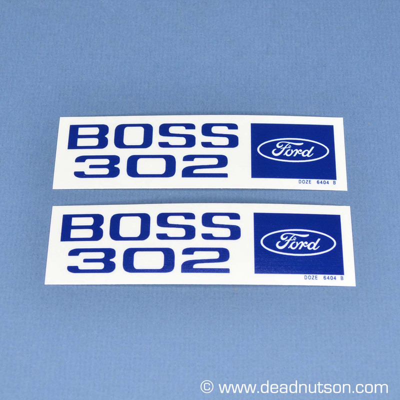 1970 BOSS 302 Valve Cover Engine Size Decal (Set)