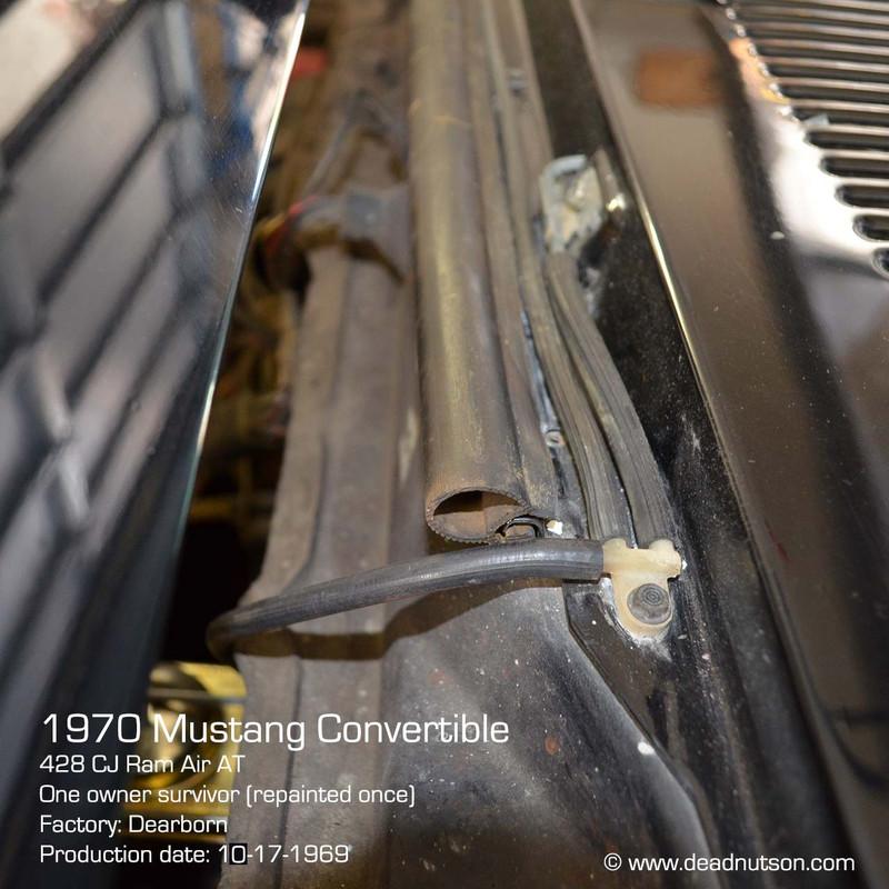 1969-70 Windshield Washer Hose Kit   Ribbed Wall