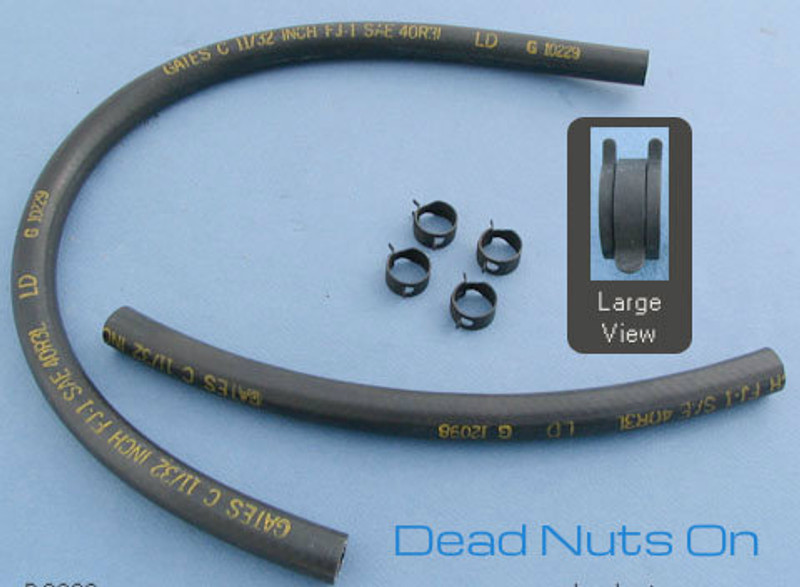 1970 Brake Booster Hose w/clamps (date coded) GATES