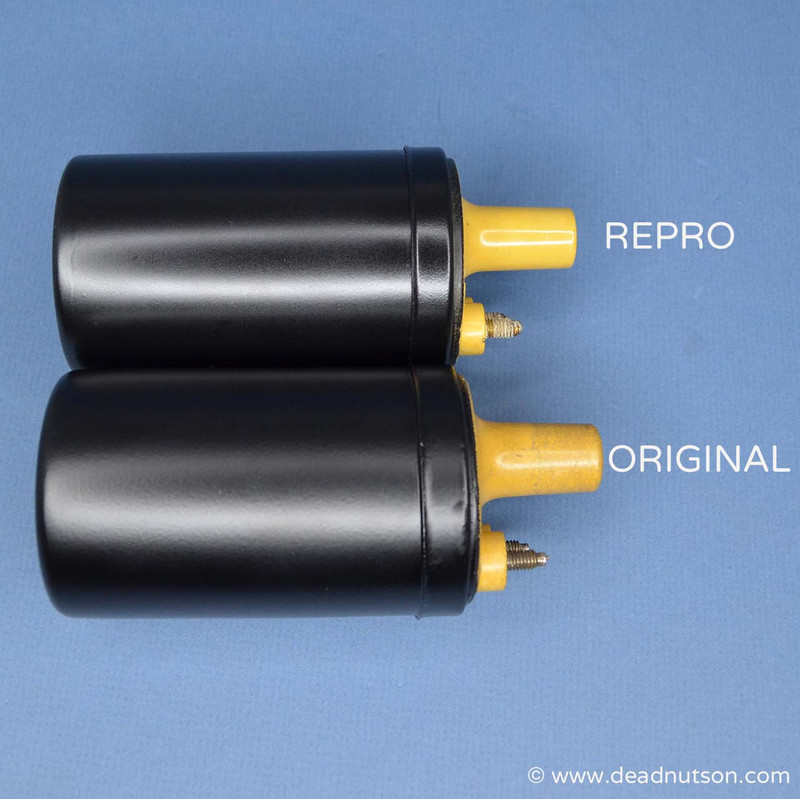 Repro Autolite Yellow Top Coil - Date Coded