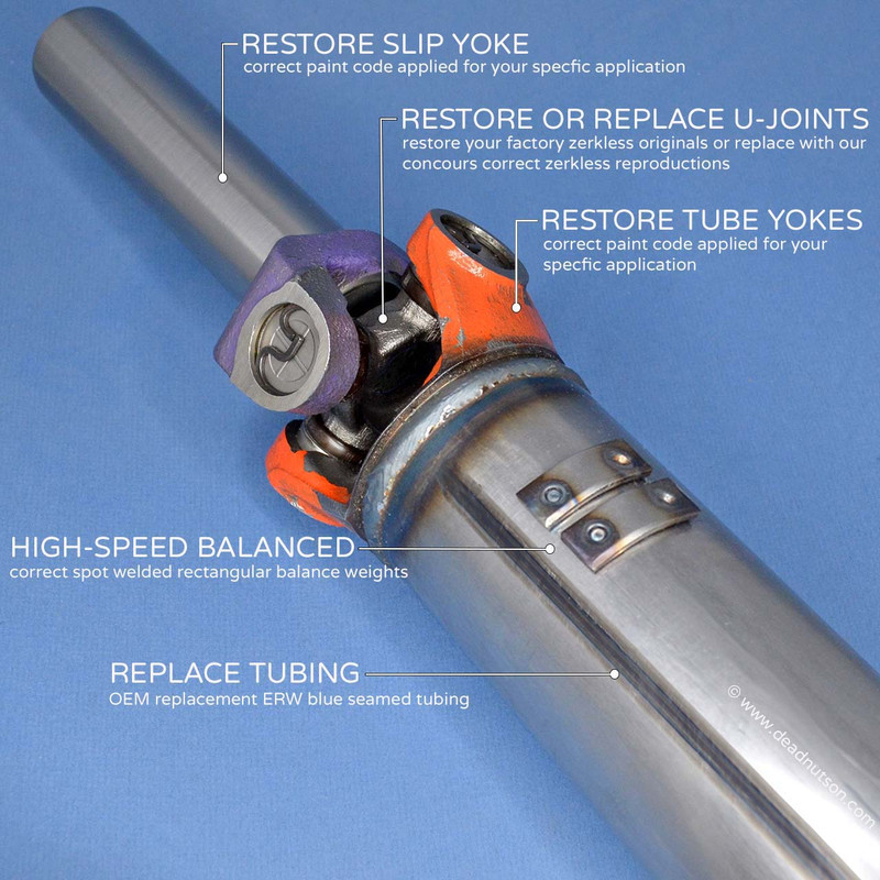 1967-69 FORD Concours Driveshaft Restoration Service