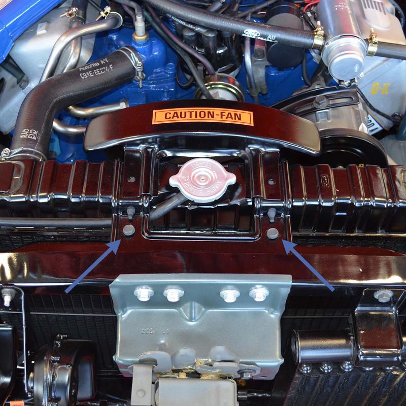 Upper Radiator Support Screws