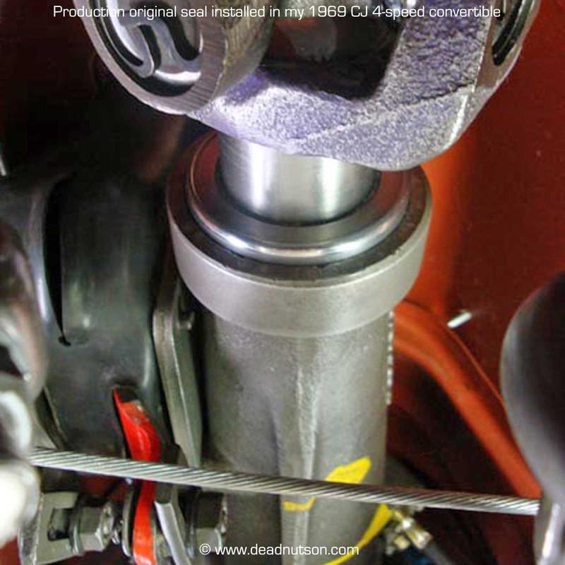 Restored production original transmisssion seal