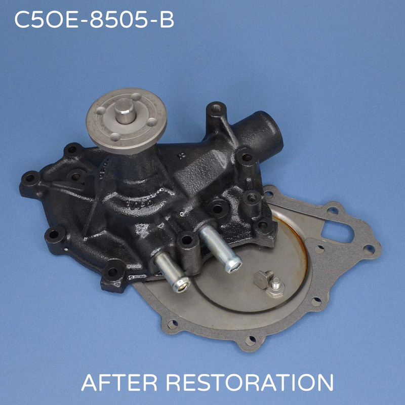 C5OE-B FORD Cast Iron Water Pump after restoration