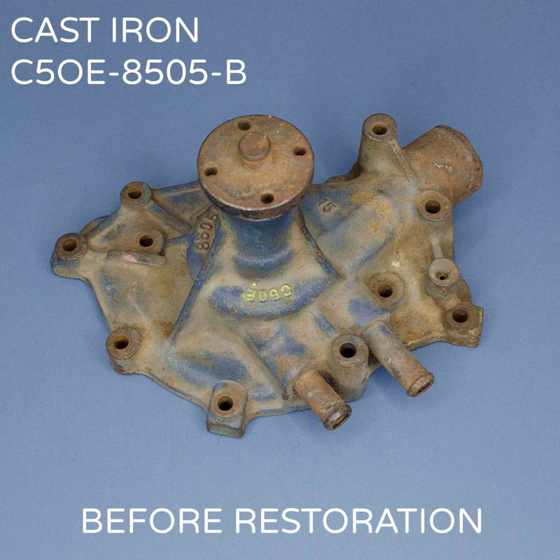 C5OE-B FORD Cast Iron Water Pump before restoration